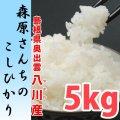 濃厚な味わいの仁多米 森原さんちのコシヒカリ 5kg(29年産)【送料込み】